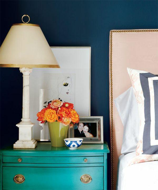 Kombinationen opulente inneneinrichtung Wandfarben nachttisch