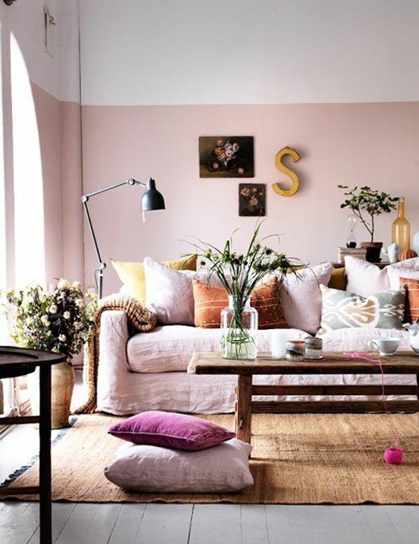 design : rosa wandfarbe wohnzimmer ~ inspirierende bilder von ...