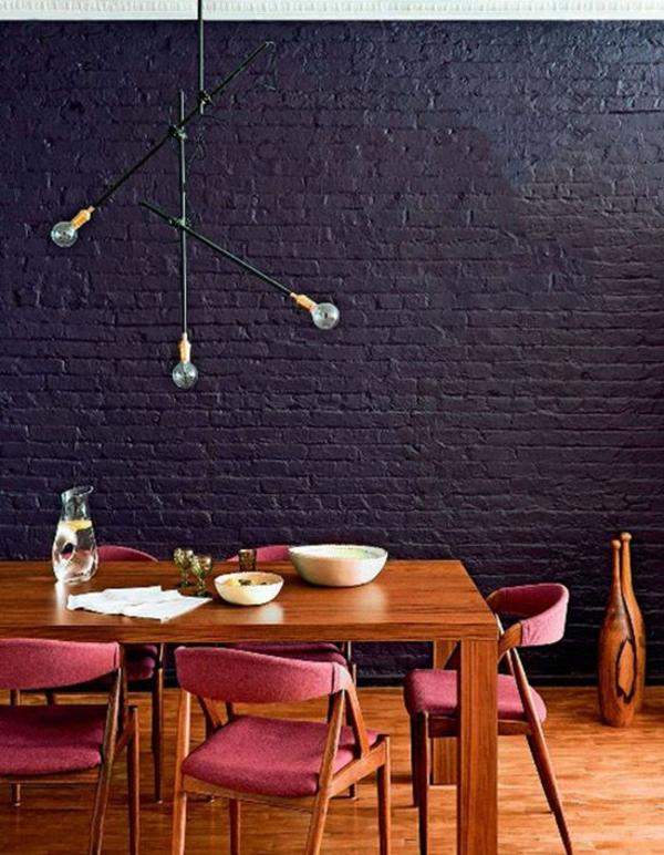 Kombinationen von Wandfarben schwarz bodenbelag