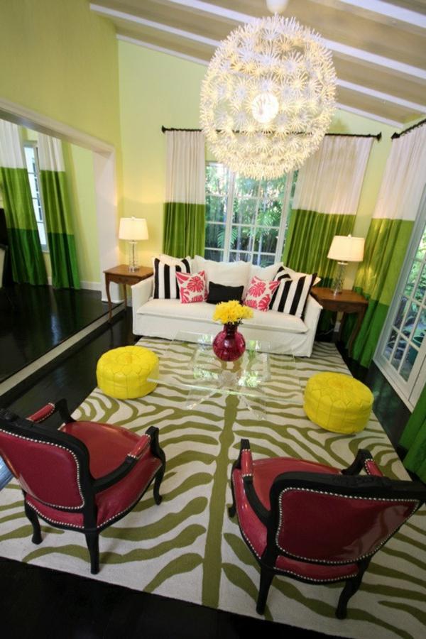 40 Kombinationen Von Wandfarben - Malen Sie Ihr Leben Bunt! Teppich Wohnzimmer Grun