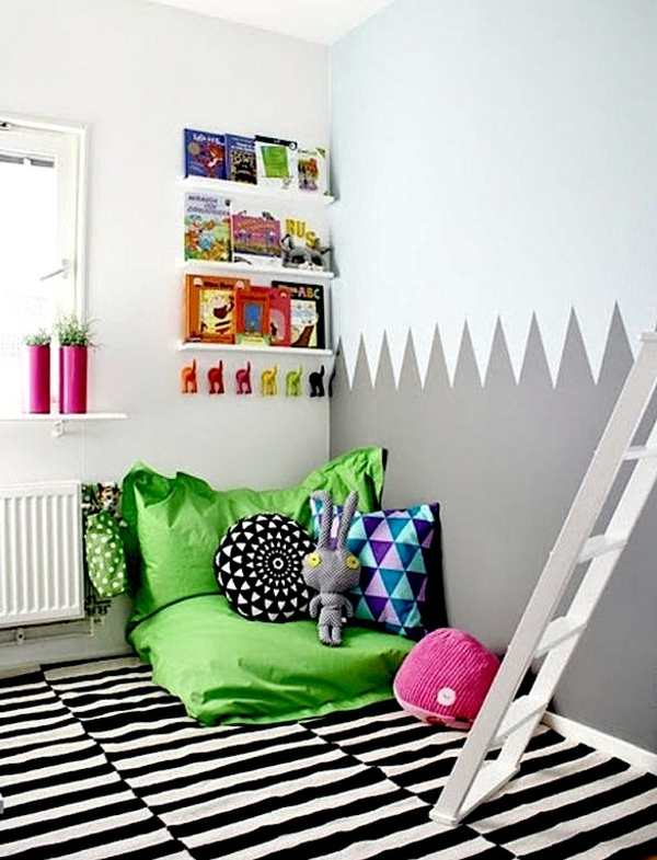 kuschelecke im kinderzimmer ergonomie und gem tlichkeit. Black Bedroom Furniture Sets. Home Design Ideas