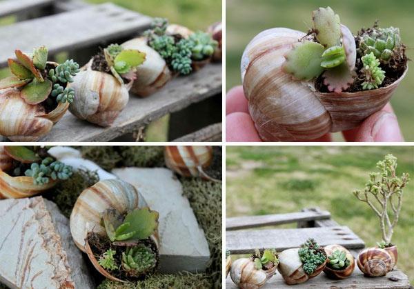 Gartendeko selber machen Lustige pflangefäße art