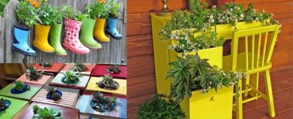 Lustige Gartendeko selber machen pflangefäße ideen