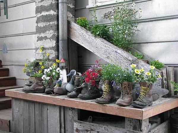 blumenstander selber bauen alte holzleiter ~ kreative bilder für ... - Blumenstander Selber Bauen Alte Holzleiter