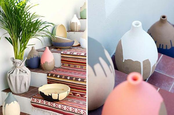 Lustige Gartendeko selber machen pflangefäße vasen