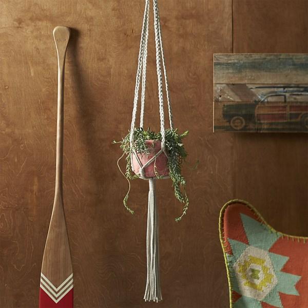 Macrame pflanzengefäß sommer dekoration