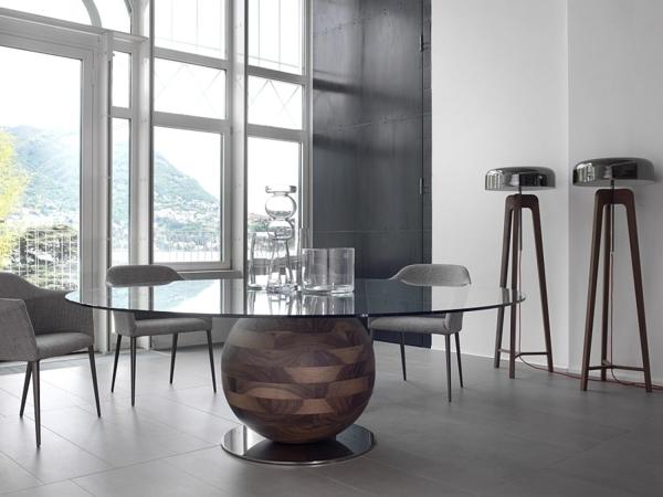 Moderne Stehlampen Designs couchtisch rund glas