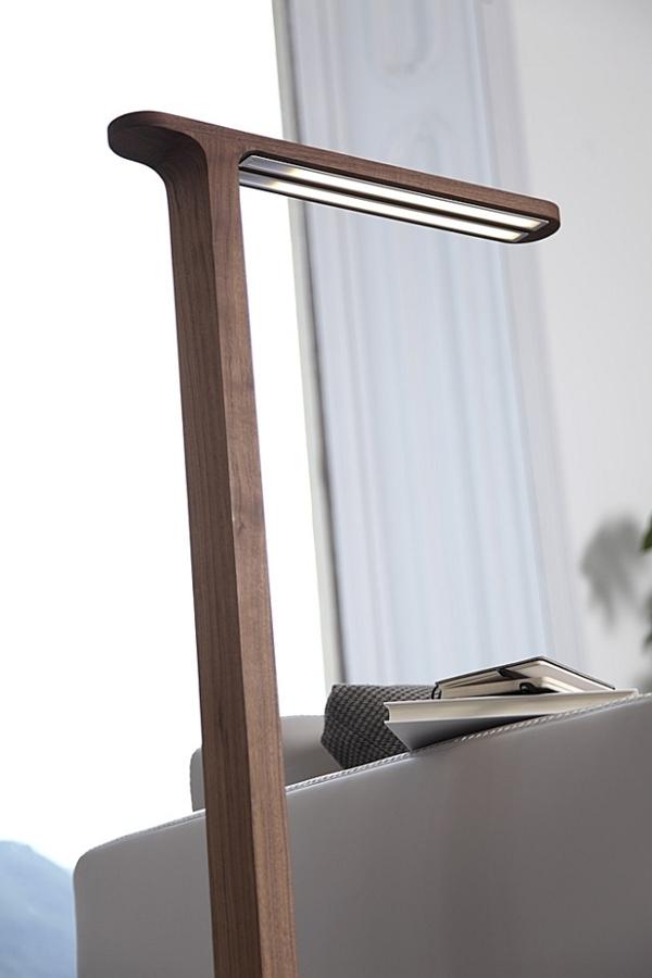 Moderne Stehlampen Designs lampenfuß holz