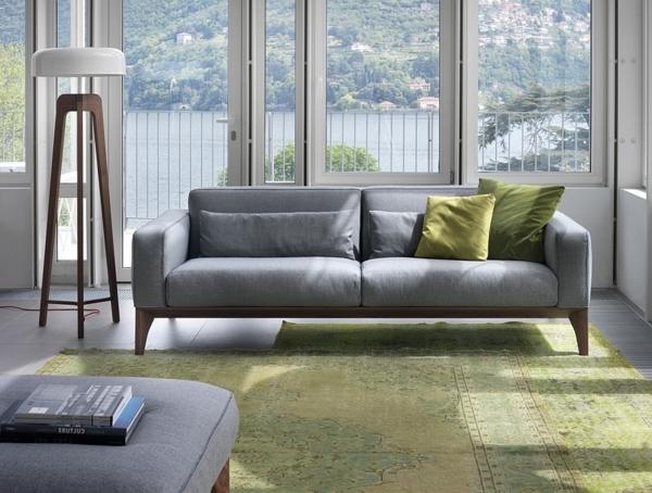 Moderne Stehlampen Designs teppich grün rund