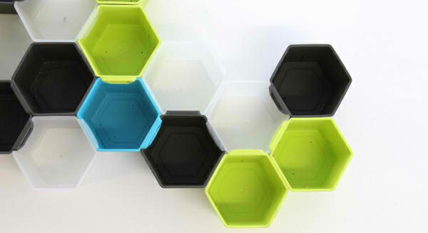 Modulares Regalsystem grün blau bienekorb