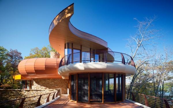 modern innovativ organische Architektur gebäude bäume