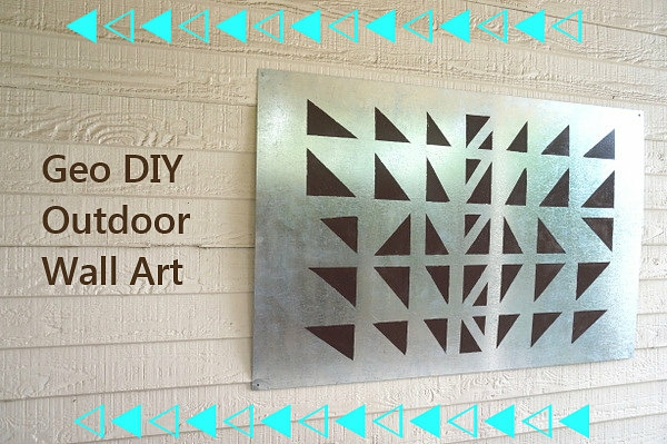 Outdoor Wanddeko selber machen diy geometrie