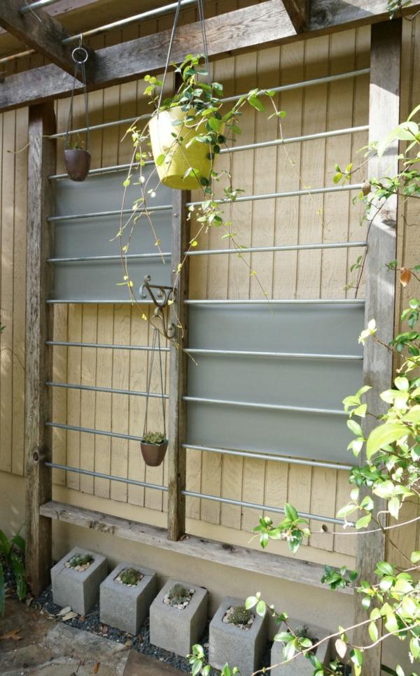 Outdoor Wanddeko selber machen geländer