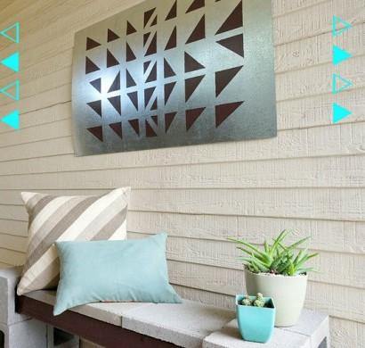 Outdoor Wanddeko Selber Machen U2013 Geometrische DIY Projekte