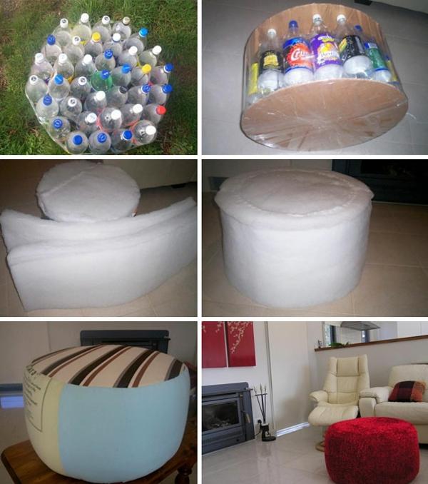Recycling von Plastikflaschen diy ideen
