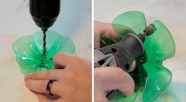 wiederverwenden von Plastikflaschen schritte anleitung