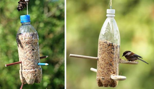 Recycling Plastikflaschen vogelfutter