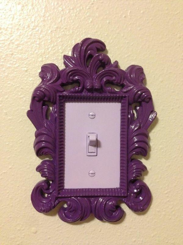 Lichtschalter Designs diy deko lila klassisch