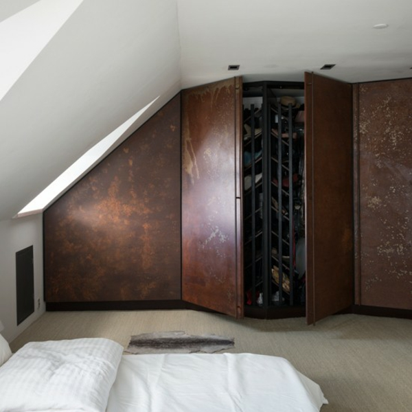 Schlafzimmer Ideen gestalten einrichten begehbarer kleiderschrank
