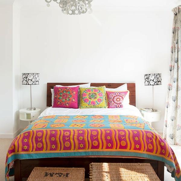 Schlafzimmer Ideen gestalten einrichten bettdekcen