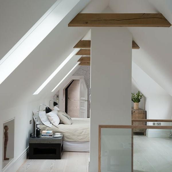 Schlafzimmer Ideen gestalten einrichten dachgeschoss fenster