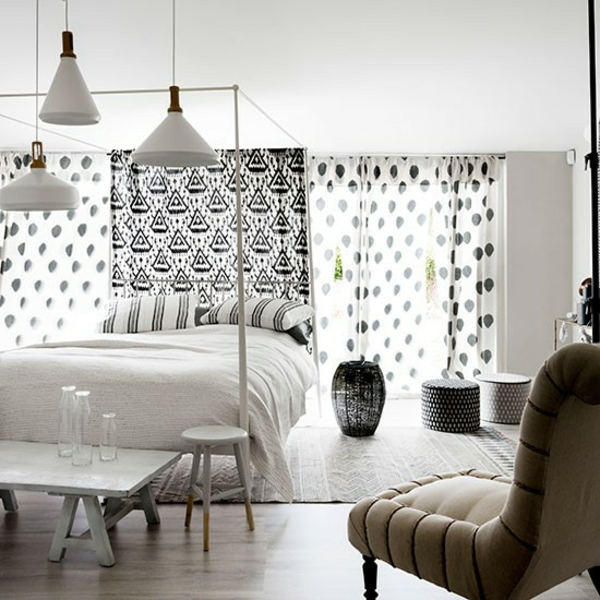 Schlafzimmer Ideen gestalten einrichten lampen