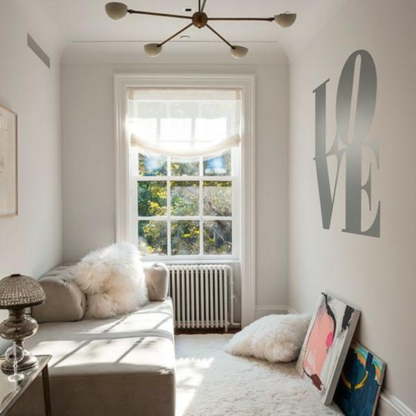 Schlafzimmer klein raum Ideen gestalten einrichten luftig