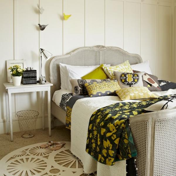 Schlafzimmer Ideen gestalten einrichten teppich rund