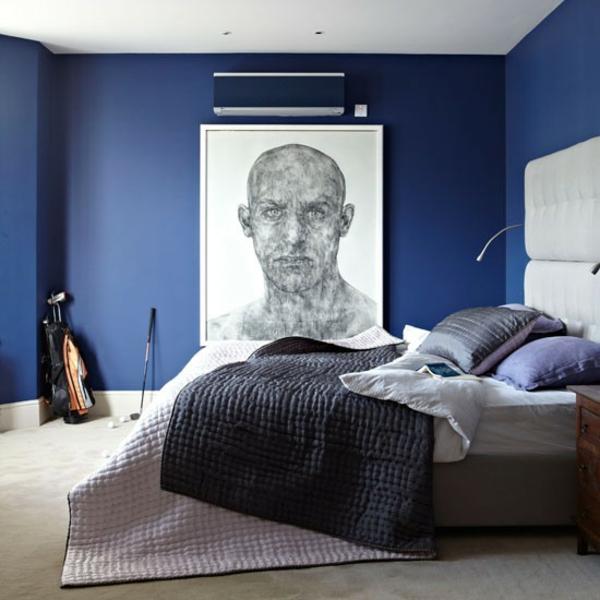 Schlafzimmer komplett gestalten art wand