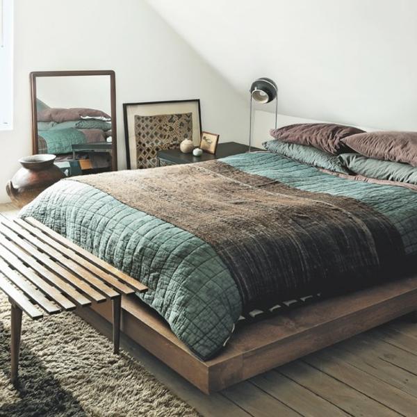 Design : Wohnzimmer Blau Braun ~ Inspirierende Bilder Von ... Schlafzimmer Gestalten Blau Braun