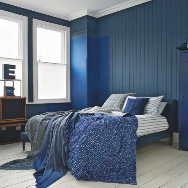 Schlafzimmer komplett gestalten blau farbpalette