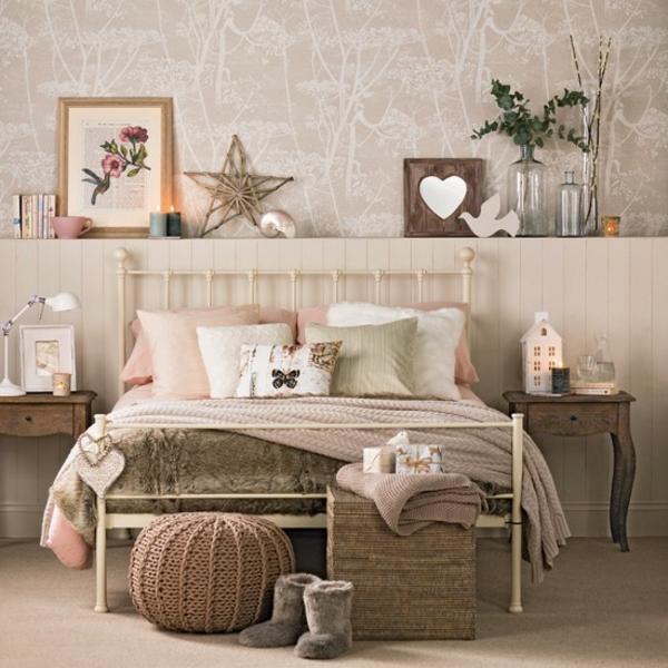 Schlafzimmer komplett gestalten braun warm