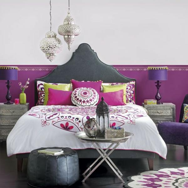 Schlafzimmer marokkanisch dekoartikel komplett gestalten feminin