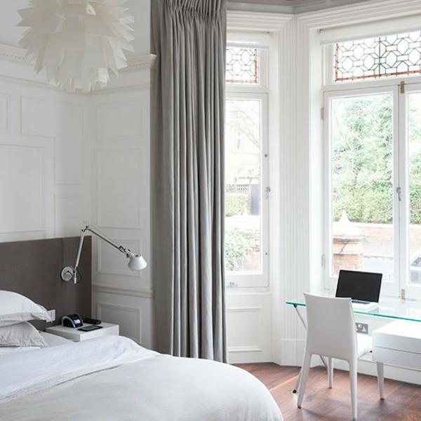 Schlafzimmer komplett gestalten gardinen