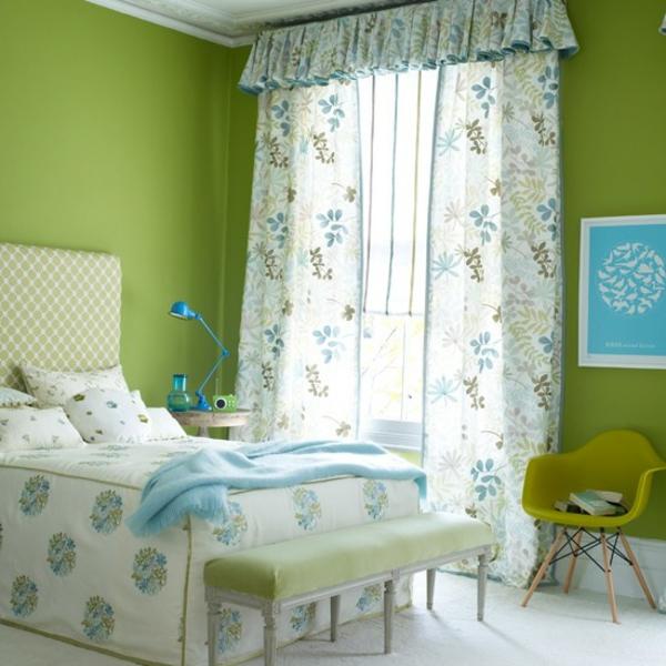 ofen wohnzimmer abstand:Schlafzimmer wand grün ~ Schlafzimmer frühlingsfrische komplett