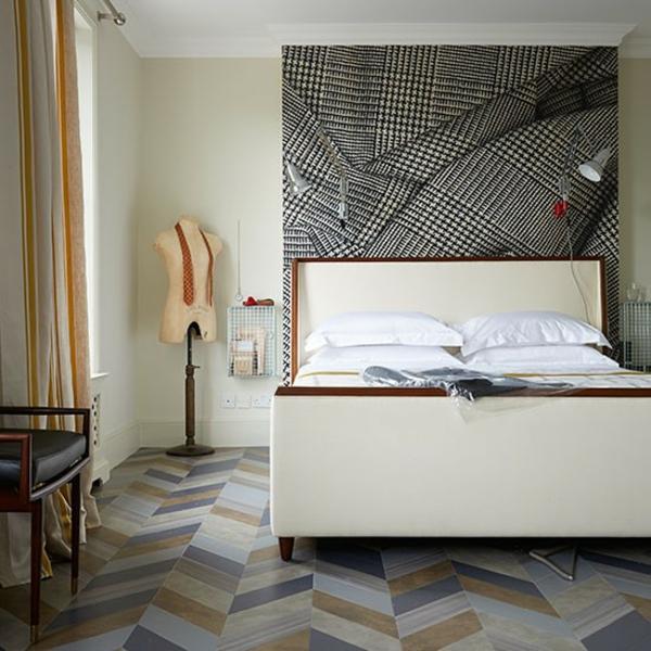 Schlafzimmer komplett gestalten grau schlafzimmerwand