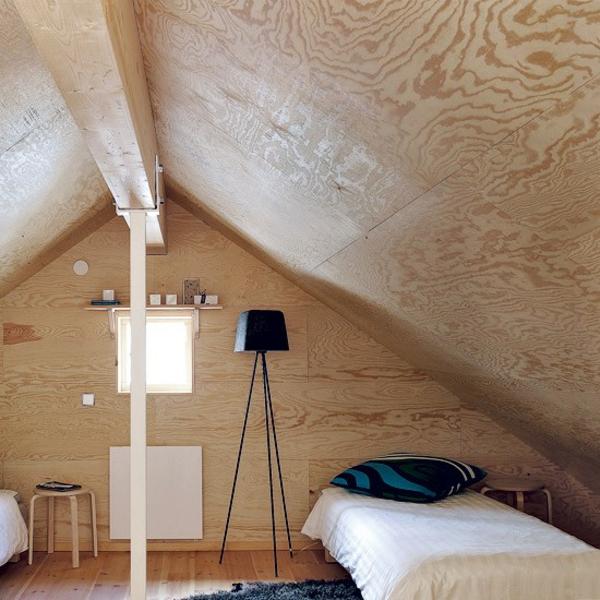 Schlafzimmer gestalten holz komplett wand