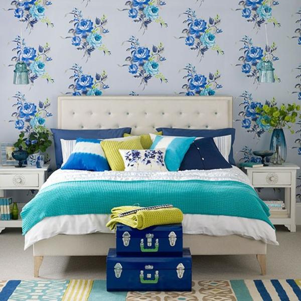 Schlafzimmer komplett gestalten kalte farbtöne