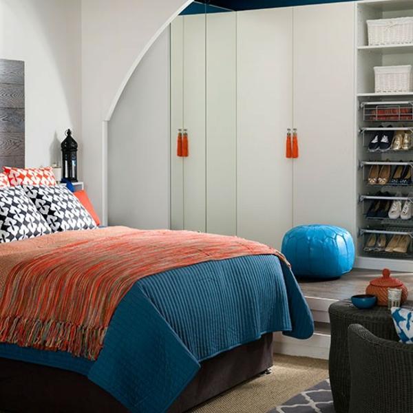 Schlafzimmer komplett gestalten leder sitzkissen