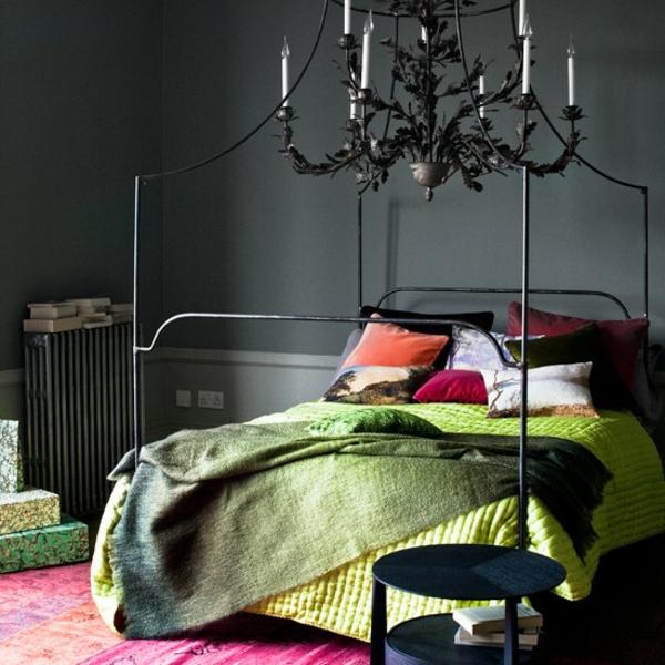 Schlafzimmer komplett gestalten mattiert wandfarbe