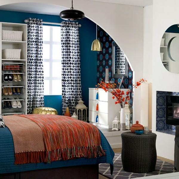 Schlafzimmer gestalten komplett mischung farben
