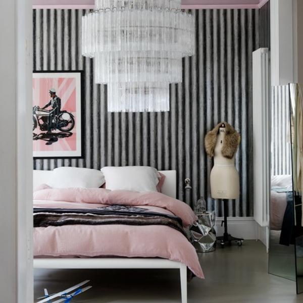 Schlafzimmer komplett gestalten pendelleuchte bett