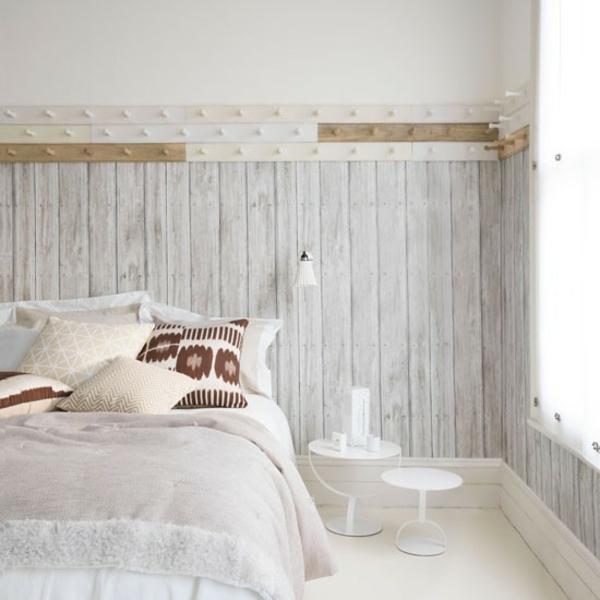 Schlafzimmer gestalten rustikal wandverkleidung komplett