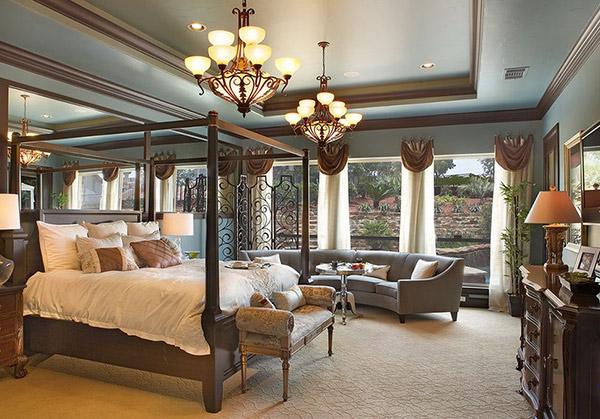 Schlafzimmergestaltung und Wandfarben deko einrichten bett