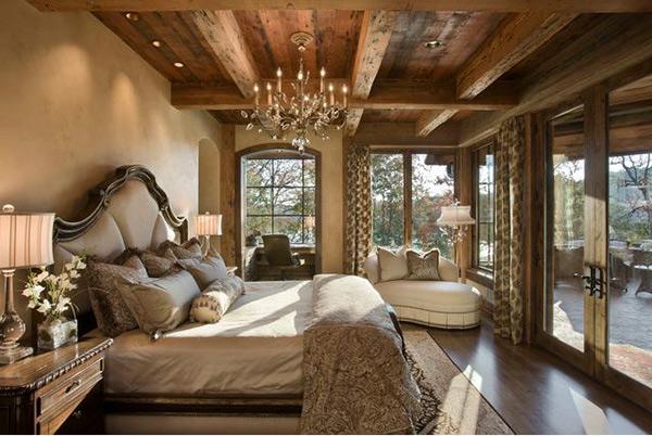Schlafzimmergestaltung und Wandfarben deko einrichten holz