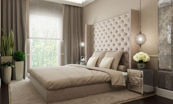 Wandfarben deko Schlafzimmergestaltung einrichten kopfteil