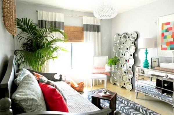 Schlafzimmermöbel und Nachttische spiegel antik design grün frisch