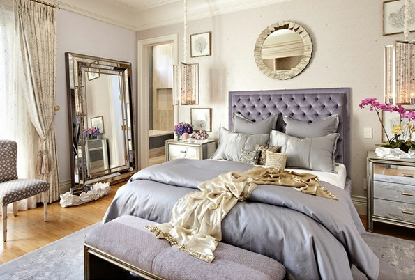 schlafzimmerm bel und nachttische mit spiegelfl che. Black Bedroom Furniture Sets. Home Design Ideas