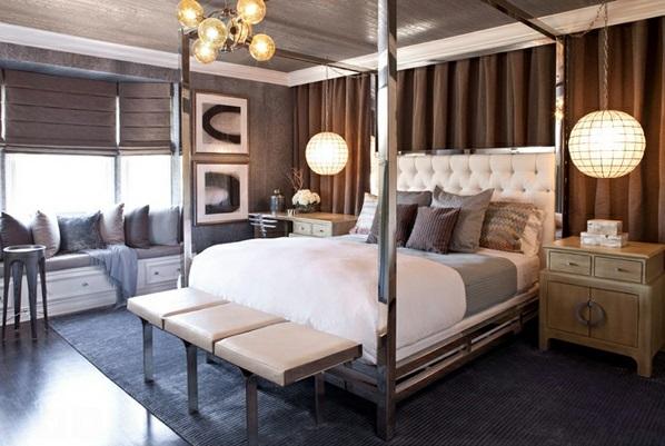 Schlafzimmermöbel und Nachttische spiegel antik design metall