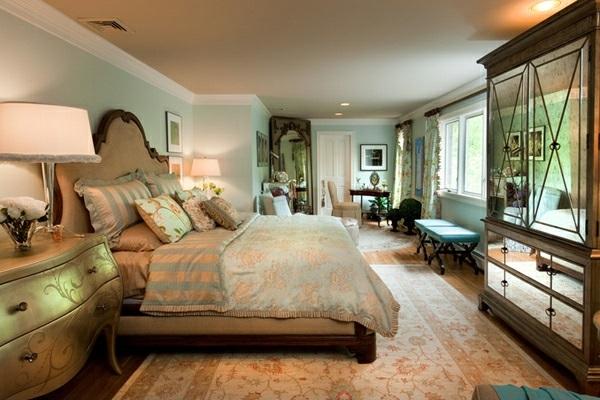 Schlafzimmermöbel und Nachttische spiegel antik design warm